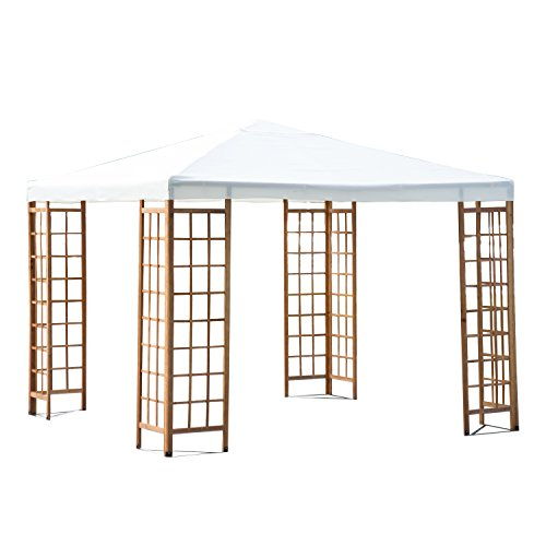 Outsunny 10' x 10' Outdoor Patio Canopy Pavilion Gazebo - Beige photo