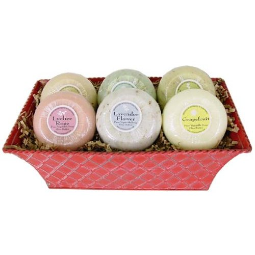 L'Epi de Provence Assortment of 6 Different Soaps in Gift Basket