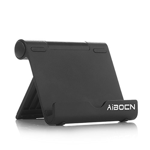 Aibocn Multi-Angle Aluminum Stand for Smartphones Tablets E-readers fits iPhone 6S 6 Plus 5S 5C 5 4S iPad Air Mini Samsung Galaxy S6 Edge S5 Note 5 4 3 / Tab Nexus Lumia HTC OnePlus and More (Black) at Electronic-Readers.com