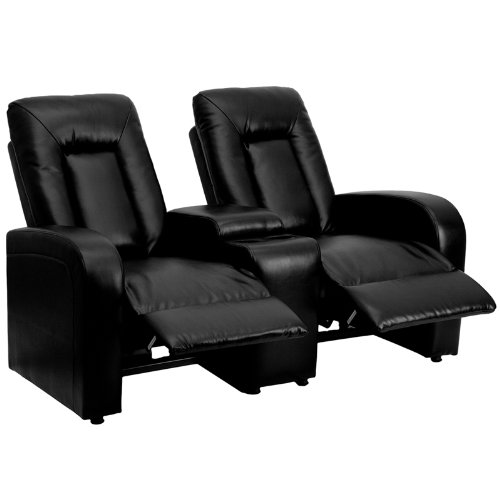 recliner chairs for sale Flash Furniture 2 Seat Black Leather Home Theater Recliner with  recliner chairs for sale