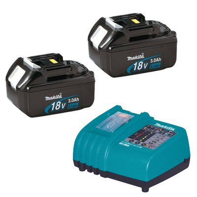 Makita (1) DC18RA Charger & (2) BL1830 Batteries NEW