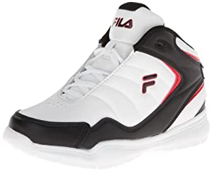 Fila Breakaway 4 Basketball Sneaker (Little Kid/Big Kid),White/Black/Red,3.5 M US Big Kid