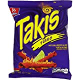 Barcel Takis Fuego Hot Chili Pepper & Lime Tortilla Chips 4 Oz (16 Pack)