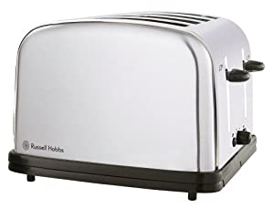 Russell Hobbs 14144 4-Slice Classic Toaster, Satin Finish, Wide Long Slots, Frozen, Cancel and Reheat Functions