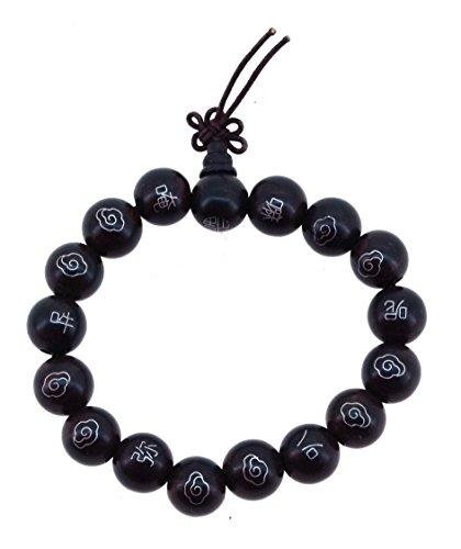 Premium Quality Buddhist Mantra Wood Wrist Mala Prayer Beads Mala Beads