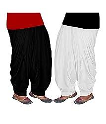 Shiva Collections Women's Cotton Patiala Salwar (scs1002_Multi_Free Size)