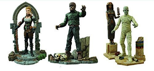 Diamond Select Universal Monsters Select Mummy, Wolfman and Lucy Westenra Versions 2 Action Figures Set of 3