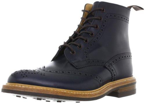 [トリッカーズ] Tricker's Tricker's Full Brogue Derby Boots / Dainite Sole M2508 Navy Blue(Navy Blue/7)