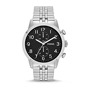 Fossil Men's FS4875 Townsman Analog Display Analog Quartz Silver Watch