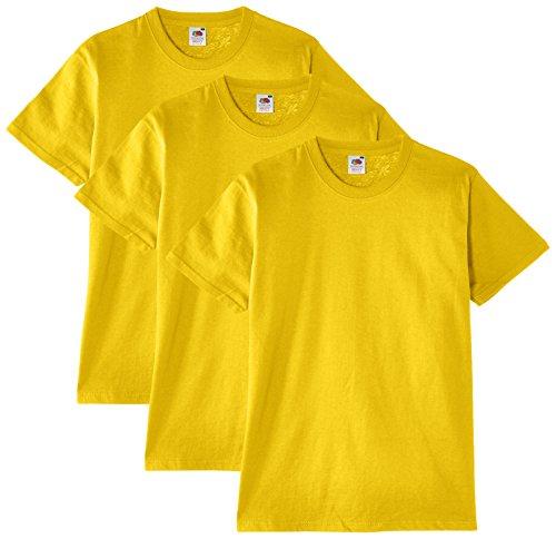 Fruit of the Loom Heavy Cotton Tee Shirt 3 pack - Camiseta manga corta para hombre