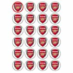 Arsenal Crest style 24 Edible Wafer P...