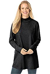 Women's Plus Size Top, Perfect Mock Turtleneck Tunic