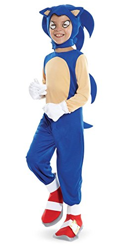 Time AD 211596 Sonic the Hedgehog - Sonic Child Costume - Small - Blue by Disguise (Adult Hedgehog)