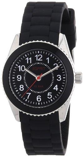 Esprit Kids - ES106424005 - Mini Marin 68 - Montre Mixte - Quartz Analogique - Cadran Noir - Bracelet Polyuréthane Noir