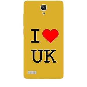 Skin4gadgets I Love UK Colour - White Phone Skin for REDMI NOTE