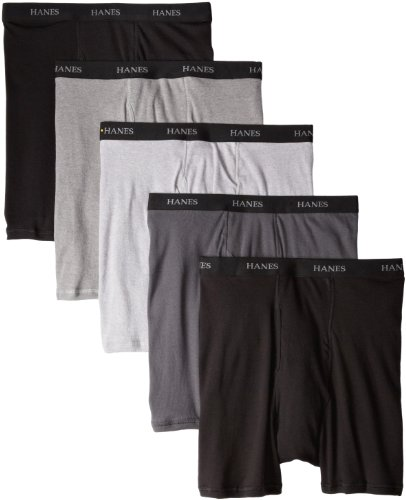 Hanes Men's Classics 5 Pack Boxer Brief, Assorted