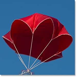 "24"" Red Rip-stop Nylon Parachute for Water or Model Rocket"