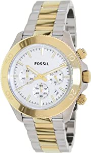 Fossil Retro Traveler Chronograph Stainless Steel Watch Two-Tone Ch2850