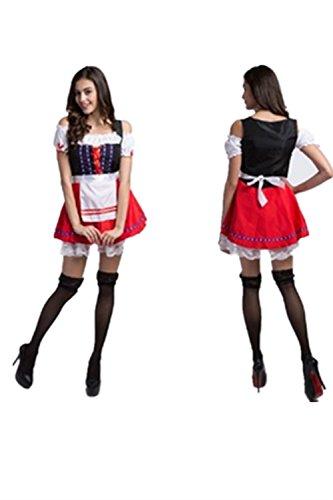 FCCO Halloween Oktobefest Beer Girl Bavarian Bar Maid Costume (Bar Maid Halloween Costume)