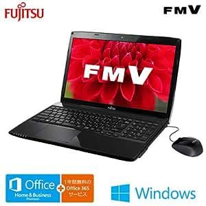 富士通 ノートパソコン FMV LIFEBOOK AH42/T シャイニーブラック(Office Home and Business Premium)FMVA42TB