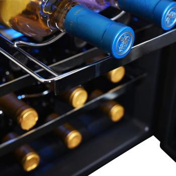 NewAir AW-121E 12 Bottle Wine Cooler with Slide Out Racks