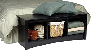 Prepac Sonoma 3-Cubbie Bench, Black
