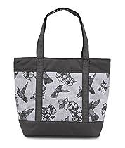 JanSport Emma Tote Bag, Grey/Black Botanical