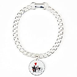 CafePress French Kiss Charm Bracelet, One Charm - Standard Multi-color from CafePress