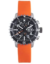 Fortis Men's 671.10.41 SI.20 B-42 Marinemaster Automatic Orange Rubber Chronograph Date Watch