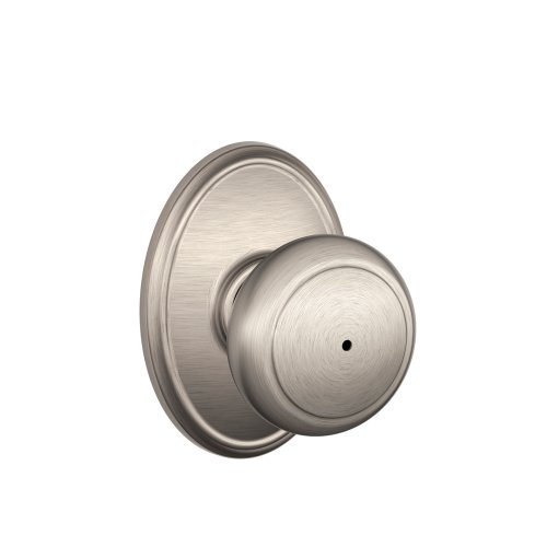 Schlage F40And619Wkf Wakefield Collection Andover Privacy Knob, Satin Nickel front-1055610