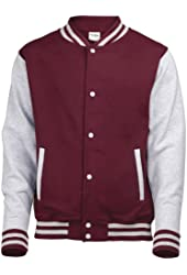 AWDis Hoods Big Boys' Varsity Letterman Jacket