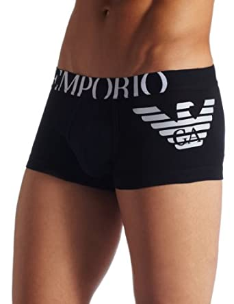 Emporio Armani Men's Eagle Trunk, Black, Medium