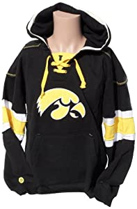 NCAA Iowa Hawkeyes Mens Hockey Hoodie Sweatshirt, Yellow-Black by Donegal Bay