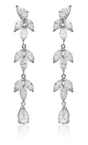 Diamond & 18k White Gold Dangle Earrings
