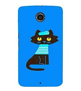EPICCASE Captain Cat Mobile Back Case Cover For LG Nexus 6 (Designer Case)