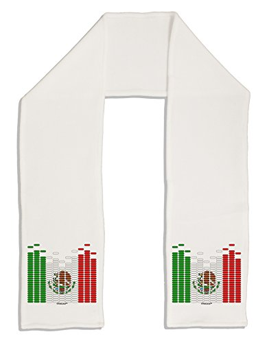 "TooLoud Mexican Flag Levels - Cinco De Mayo Adult Fleece 64"" Scarf"