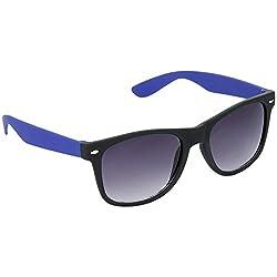Hrinkar Stylish Wayfarer Grey Lens & Black-Blue Frame Sunglasses for Men and Women - HRS28