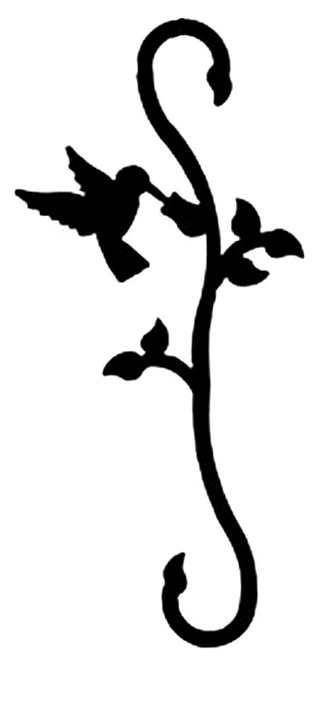 Iron Decorative Hummingbird Garden Plant S Hook - Black Metal Plant Hanger