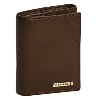 Amazon.com: Fossil Mens Evans Zip Trifold Wallet ML3072, Brown