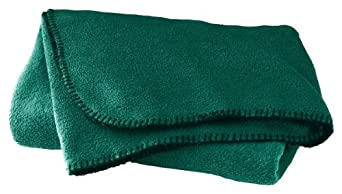 Augusta Sportswear Polyester Chill Fleece Blanket, DARK GREEN, One Size