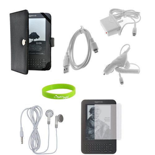 CrazyOnDigital Kindle 3G 3rd Generation Accessory Kit. Bonus wristband inlcuded
