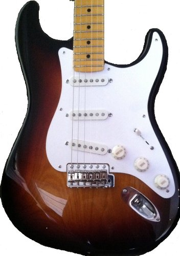 Fender Stratocaster - Compares To Eric Johnson And Custom Shop Models - 3-Color Sunburst With Warmoth Neck Finished In Real Lacquer, D Allen Voodoo Blues Pickups, Premium Hardware Upgrades, And Tweed Case