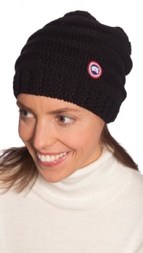 09d8b24c2ad Canada Goose Women s Merino Slouchy Beanie Black One Size ...