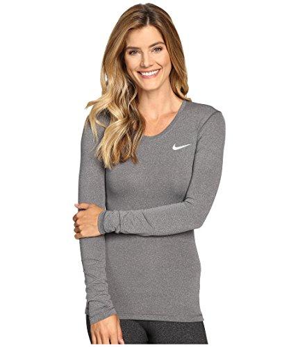 Nike Pro Cool Women's Training Top (X-large, Dark Grey/Heather/White)