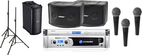 Bose 802 Iii Series Portable Panaray Sound System Package With Crown Amplifier And 3 Free Microphones