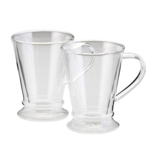 Bonjour 2-Piece Insulated Glass Coffee Mug Set front-511234