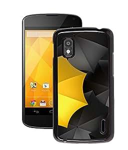 Fuson 2D Printed Back Case Cover for LG GOOGLE NEXUS 4 E960 Yellow Umbrella D4576 NEXUS 4