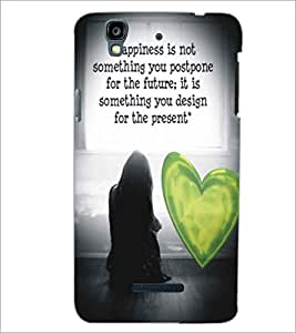 PRINTSWAG LOVE QUOTE Designer Back Cover Case for MICROMAX YU YUREKA