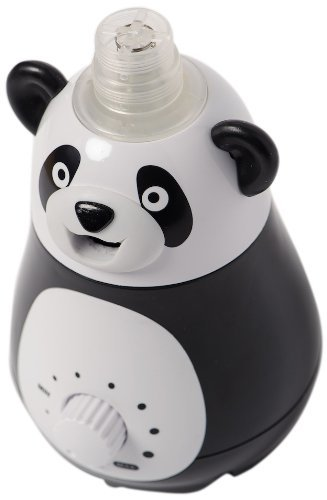 BELL + HOWELL Ultrasonic Panda Design Personal Portable Humidifier for Kids and Babies Cool Mist Lasts up to 12 Hours Per Water Bottle