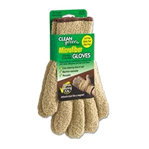 6 Pack CleanGreen Microfiber Dusting Gloves, Pair by MASTER CASTER (Catalog Category: Office Maintenance, Janitorial & Lunchroom / Cleaning Supplies)